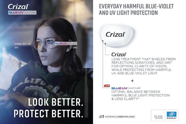 Crizal Blue UV Capture