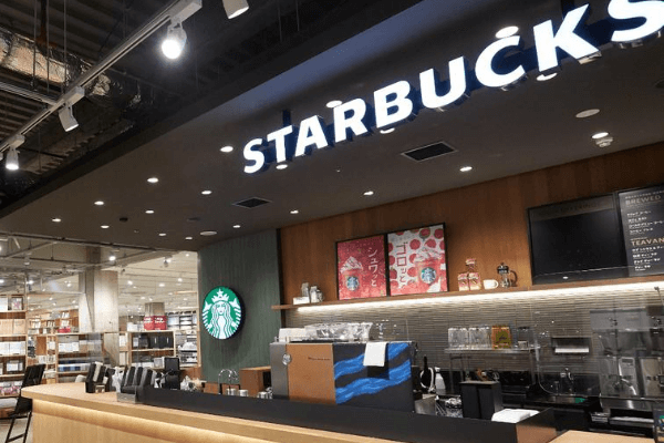 位于MUJI内的Starbucks咖啡店。